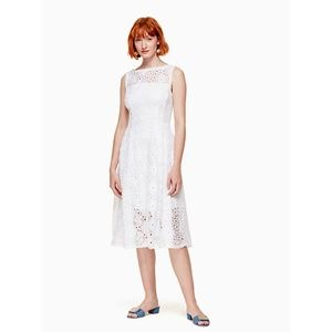NWT Kate Spade Lace Fit and Flare Dress Sz 2 White
